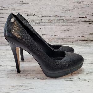 Calvin Klein Black High Heeled Shoes, Size 7 M
